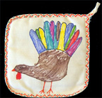 Thanksgiving Turkey Potholder Craft for Kids