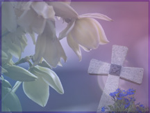 Flower and Cross Wallpaper