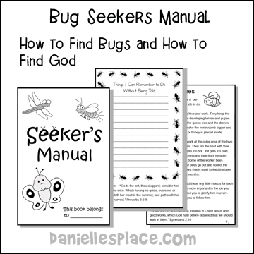 Seekers Manual - Children discover how to seek out bugs and God. 14 Pages