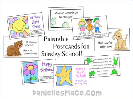 Printable Postcards For Sunday School