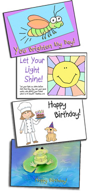 Printable Postcards from Sunday School