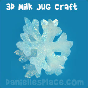 Snowflake Craft made from a  Milk Jug from www.daniellesplace.com