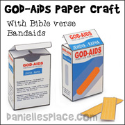 God-Aids Band-aids with Bible Verses Craft for Children from www.daniellesplace.com