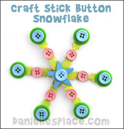 Craft Stick Button Snowflake Craft from www.danielllesplace.com