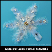 Wooden Snowflake Winter Craft