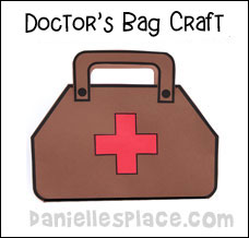 Doctor and nurse crafts and learning activities for children for Doctor bag craft template