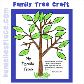 family tree Sunday School Craft