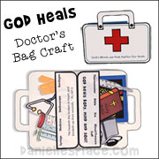 First Aid Kit Paper Craft for Children from www.daniellesplace.com  Great for doctor and nurse-themed activities
