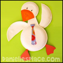 Gander Goose Paper Plate Craft .daniellesplace.com  sc 1 st  Danielleu0027s Place & Duck Crafts and Learning Activities