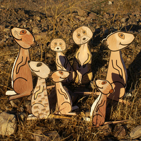 Meerkat theme 3D paper craft for kids
