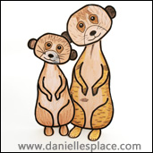 meerkat folded paper craft www.daniellesplace.com