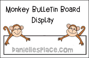 Monkey Bulletin Board Display