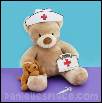 nurse cap bear craft www.daniellesplace.com