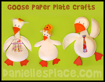 Goose or Duck Paper Plate Crafts for Kids www.daniellesplace.com