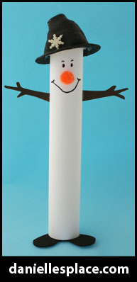 Snowman Paper Towel Tube Craft for Kids www.daniellesplace.com