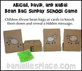 Bean Bag Bible Verse Review Game for Sunday School