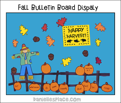 Happy Harvest - Fall Bulletin Board Display