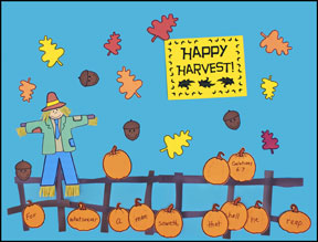 Fall Bulletin Board Display - Happy Harvest