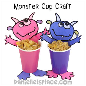 Monster Treat Cup Craft