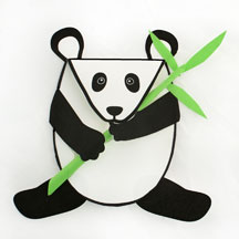 panda bear card craft for kids