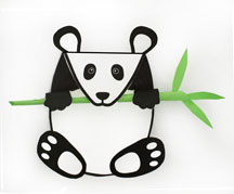 panda bear card craft 2