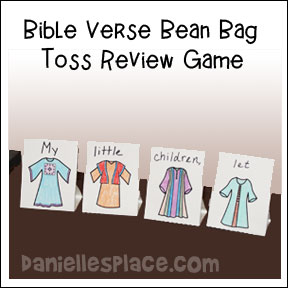 Bean Bag Toss Bible Verse Review Game for Sunday school