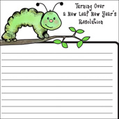 Turning Over a New Leaf New Year's Resolution Printable Activity Sheet