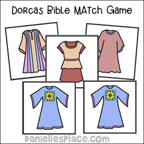 Bible Match Game for Dorcas Bible Lesson