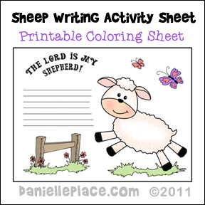Sheep Writing Activity Sheet from www.daniellesplace.com
