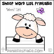 Sheep Word List