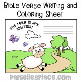 Sheep Writing Sheet