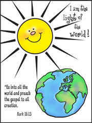 Go into all the world printable Bible Activity Sheet for Sunday School from www.daniellesplace.com