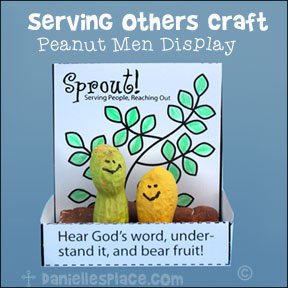 Hear God's Word, Understand it, and Bear Fruit! Peanut Display Bible  Craft for Sunday School