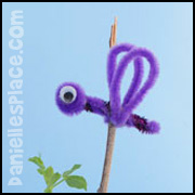 dragon plant stake craft for kids