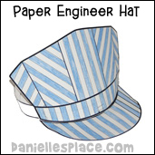 Transportation crafts and educational activities for children for Conductor hat template