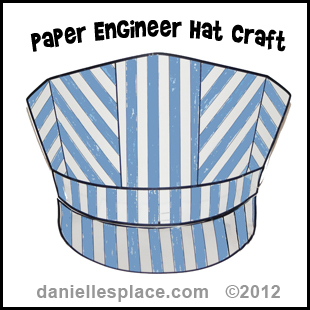 Hat crafts and learning activities for children for Conductor hat template