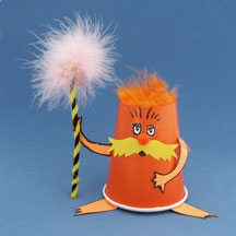 The Lorax Cup Craft for Kids