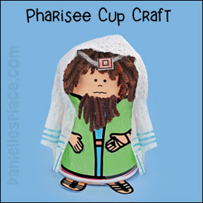 Paper cup pharisee craft for kids from sunday school from www.daniellesplace.com