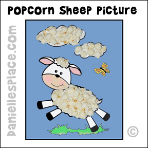 Popcorn Sheep Activity Sheet from www.daniellesplace.com
