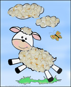 The Lost Sheep popcorn Bible Craft for Sunday School