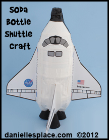 Space Shuttle Pop Bottle Craft for Kids www.daniellesplace.com