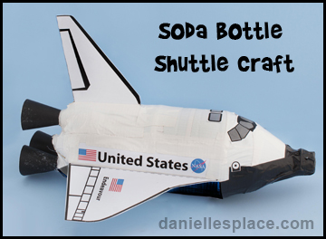 Space Shutter Soda Bottle Craft for Kids www.daniellesplace.com