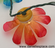 DIY-recycled water bottle flower patio lights
