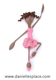 ballerina Craft made with plastic spoons www.daniellesplace.com