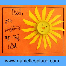 Father Craft Ideas on Dad  You Brighten Up My Life  Father S Day Card Craft For Kids