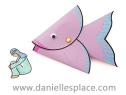 Jonah and the Whale Bible Puppet Craft for Sunday School www.daniellesplace.com