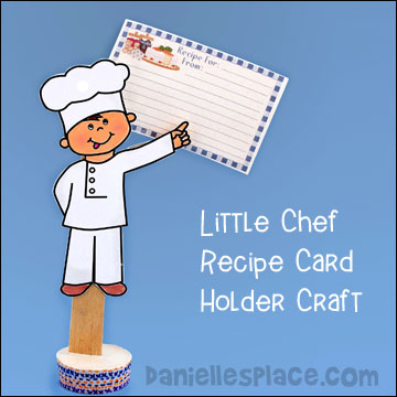 Little Chef Recipe Card Holder Craft for Mother's Day www.daniellesplace.com