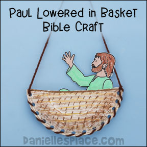 Paul in Basket bible Craft for Sunday School
