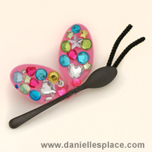 Butterfly DIY Craft made with Plastic Spoons 3