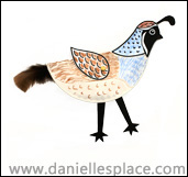Walking Quail Paper Plate Craft